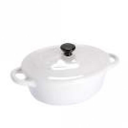 Kokotte , 10,5 x 8 cm, biała