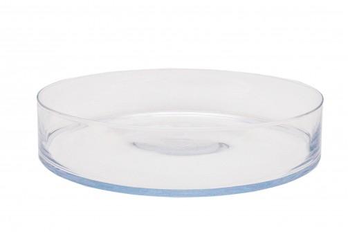 Misa szklana, śr. 39 cm, <br />wys. 8 cm