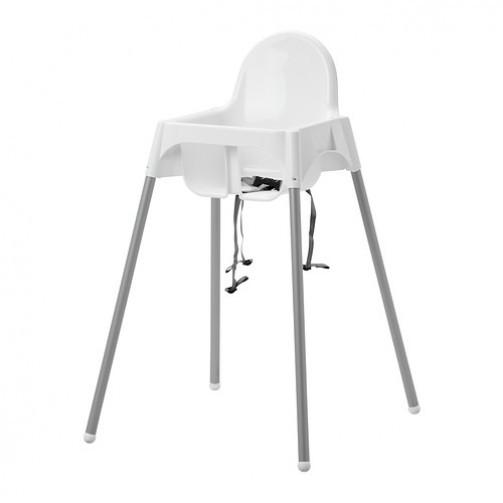 Krzesło dla dziecka, zzabezpieczeniem, białe