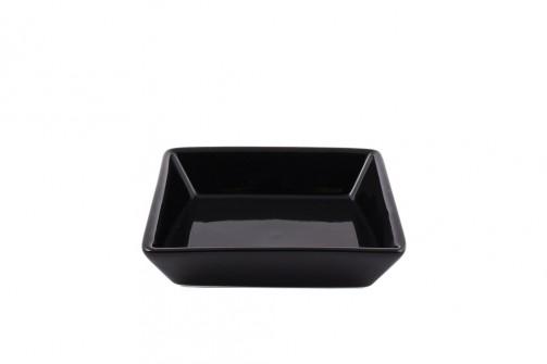 Talerz Aperitif,10 x 10 x 2,4 cm, czarny , żaroodporny