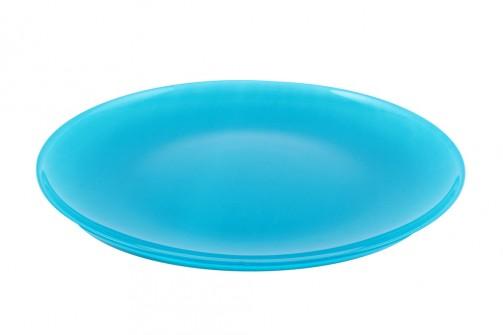 Talerz szklany, śr.27 cm, turkus