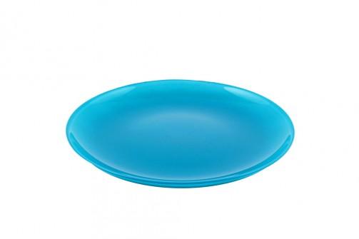 Talerz szklany, śr.20 cm, turkus