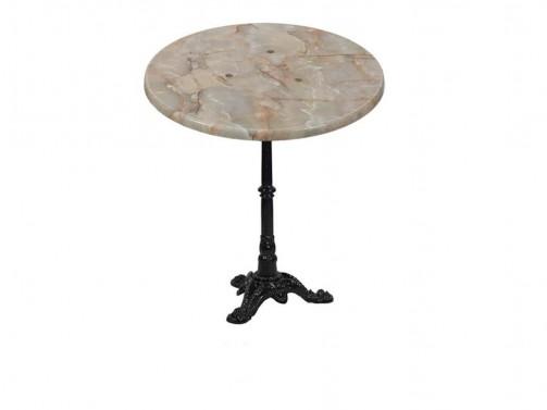 Stolik, marmurkowy, śr. 80cm