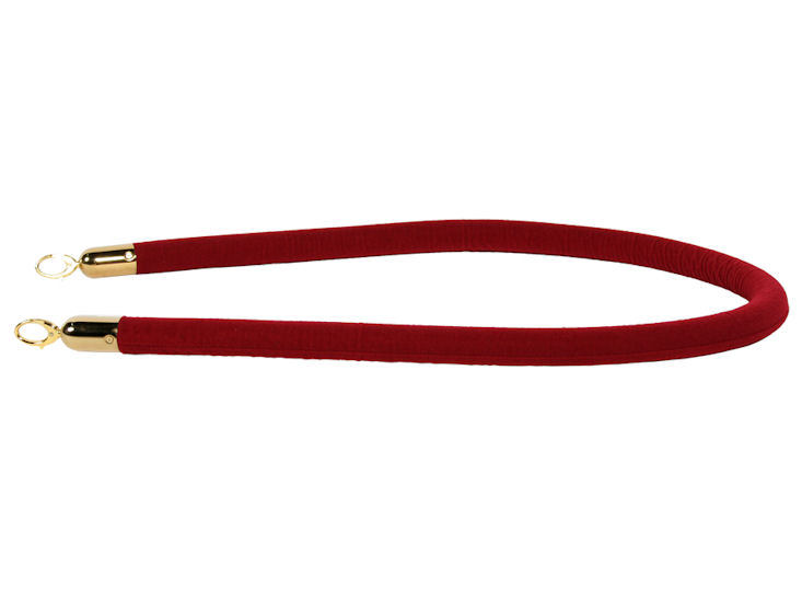 Sznur odgrodzeniowy, czerwony, dł. 1,60 m