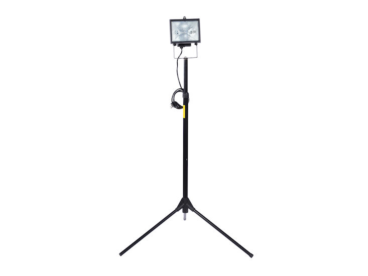 Lampa halogenowa zestatywem, 500 W