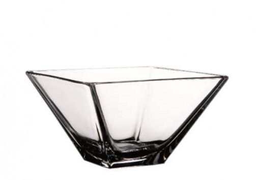 Miska szklana, 26 x 26 cm, wys. 12,5 cm