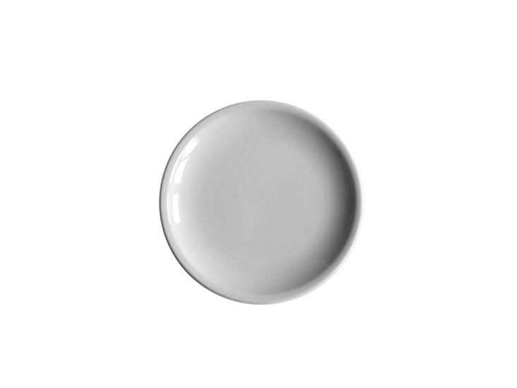 Talerz deserowy, śr. 19 cm, biały