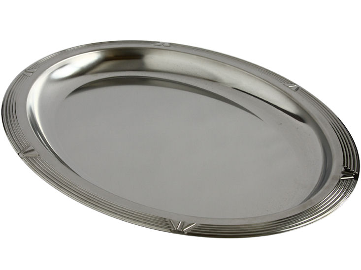 Taca chromowa, 50 x 36 cm