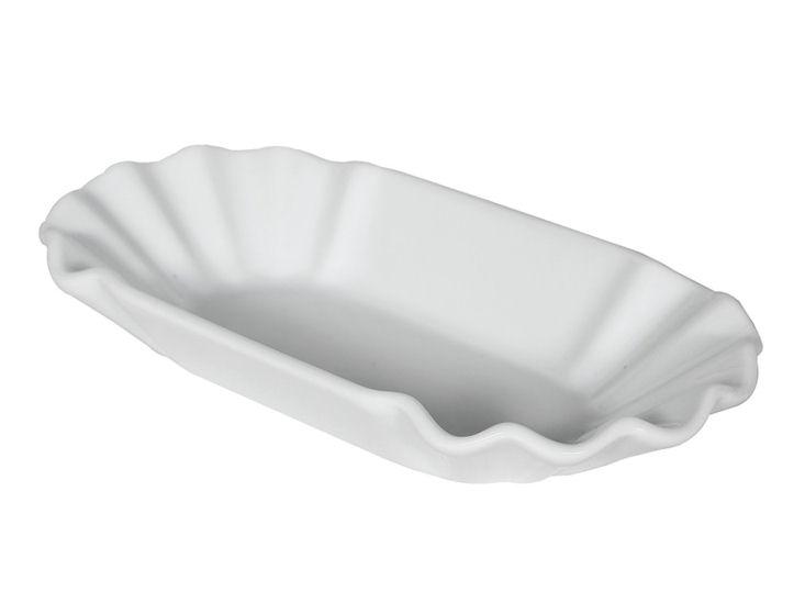 Talerz , 11 x 20 cm, biały