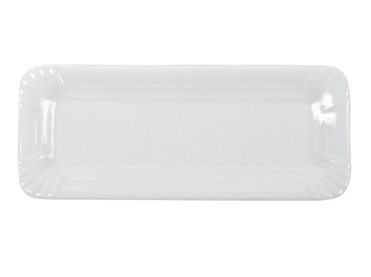 Talerz, 8 x 20 cm, biały