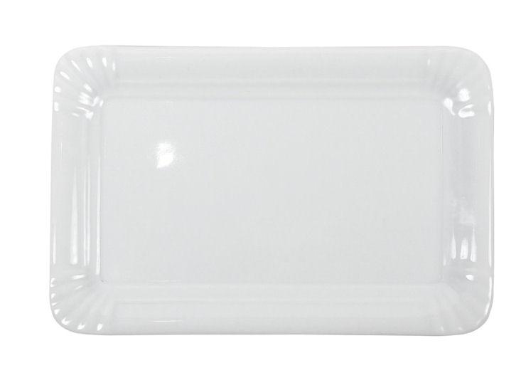 Talerz, 13 x 20 cm, biały