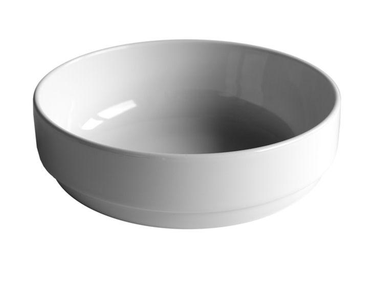 Miska, śr. 20 cm, biała, 1l