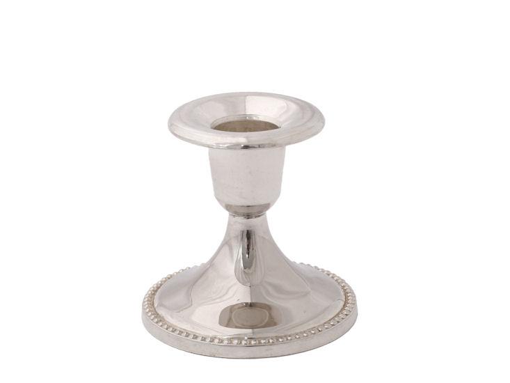 Świecznik, wys. 7,5 cm, metalowy