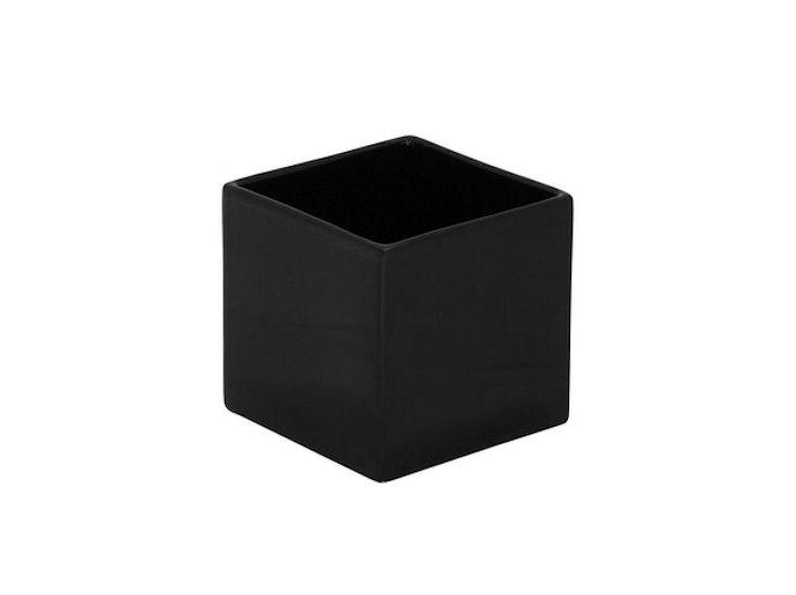 Wazon / donica, 12 x 12 x 12 cm, czarny