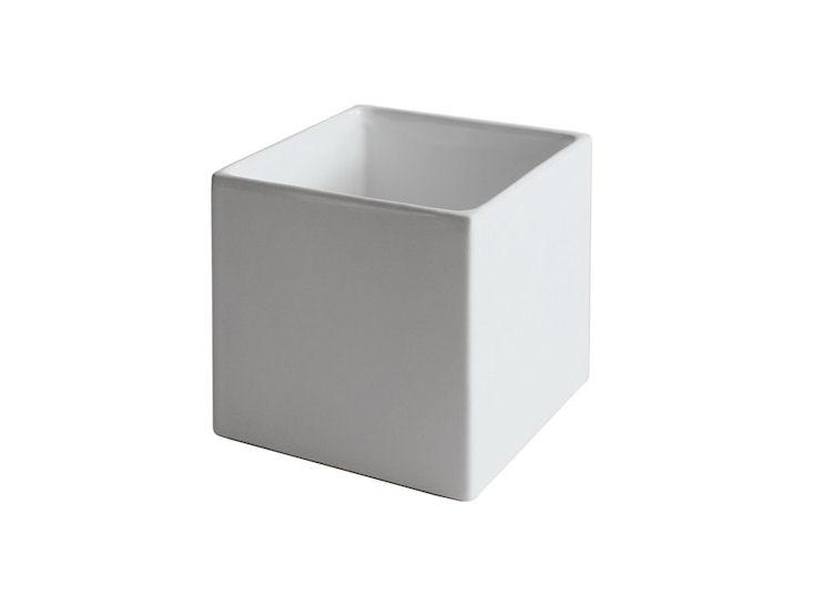 Wazon / donica, 12 x 12 x 12 cm, biały