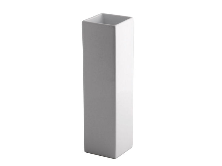 Wazon, 8 x 8 cm, wys. 30 cm, biały