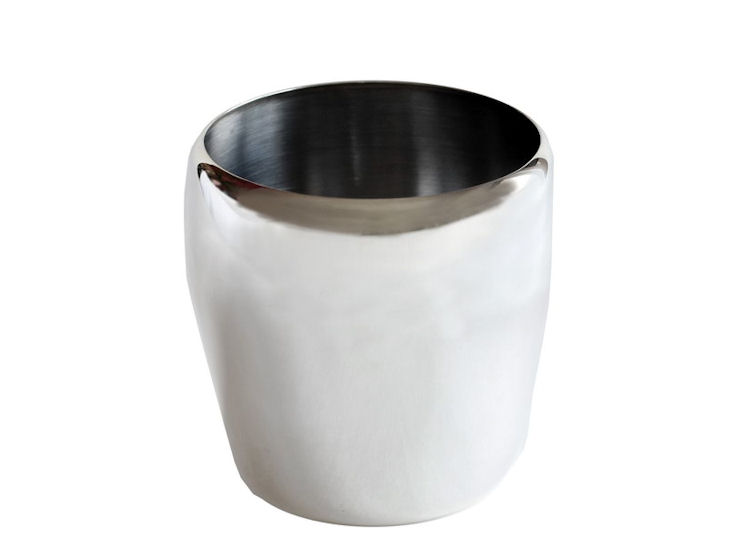 Pojemnik dolodu, posrebrzany, śr. 12,6 cm, wys. 12 cm,