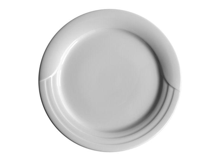 Talerz obiadowy, śr. 28 cm, biały, Lotus