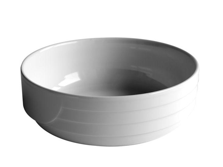 Miska, śr. 20 cm, biała, Lotus, 1l