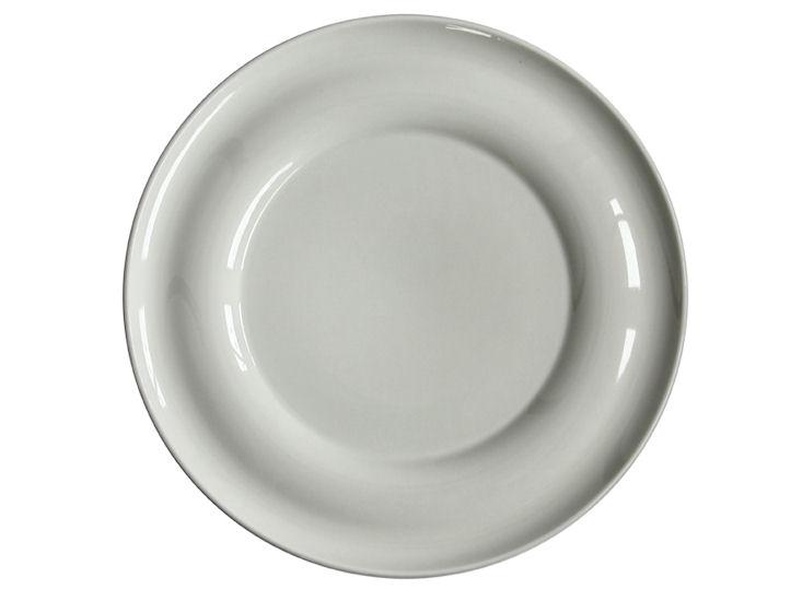 Talerz obiadowy, śr. 31 cm, Lyra, ecru