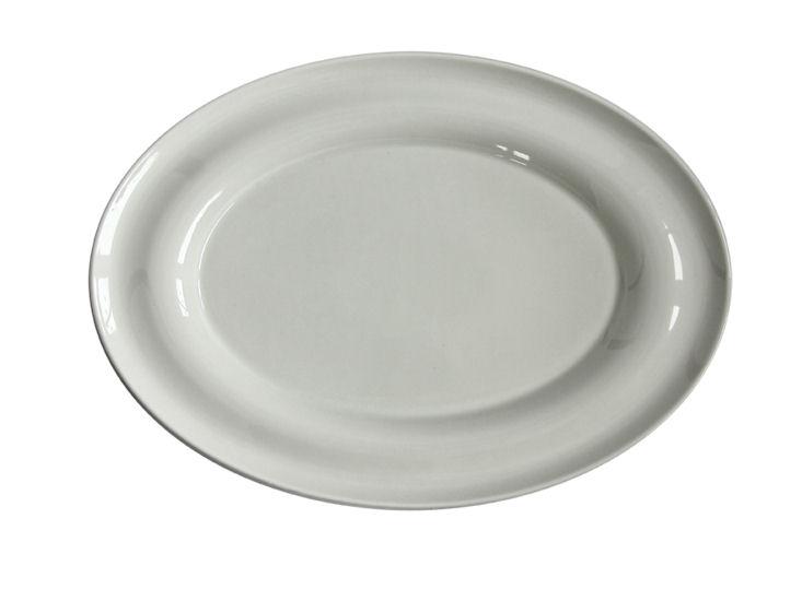Półmisek owalny, dł. 32 cm, Lyra, ecru