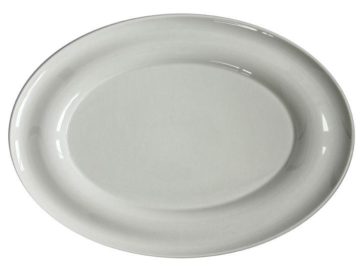 Półmisek owalny, dł. 38 cm, Lyra, ecru