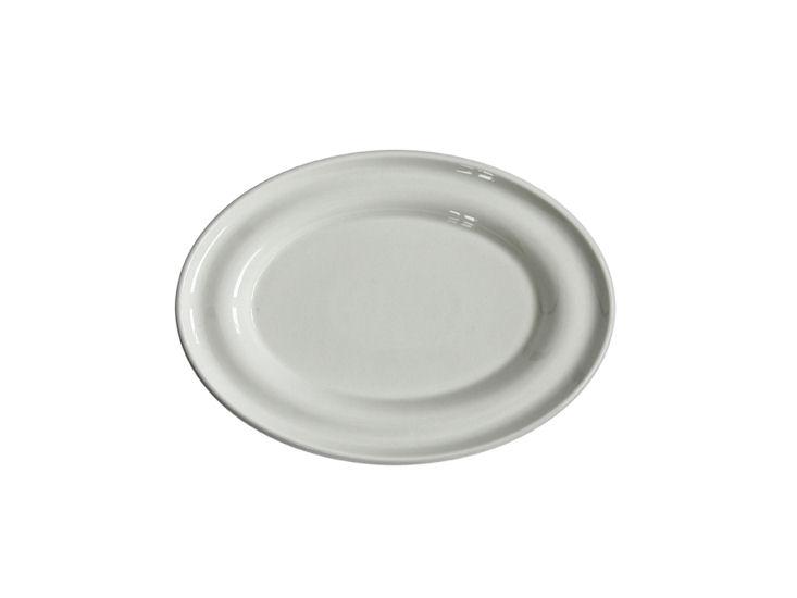 Półmisek owalny, dł. 22 cm, Lyra, ecru