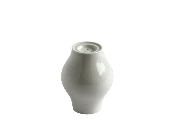 Solniczka porcelanowa, Lyra, ecru