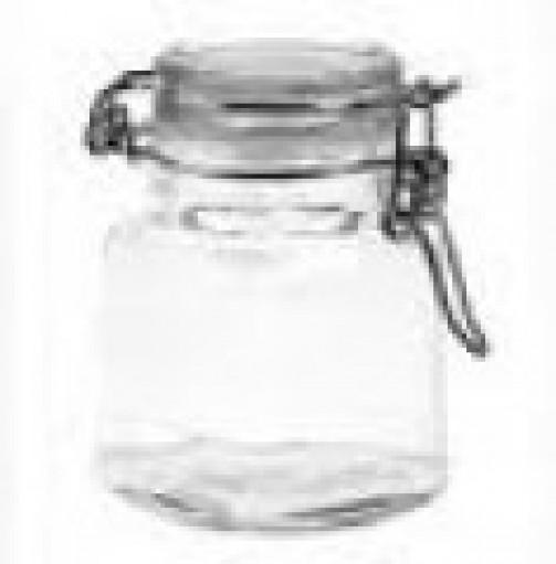 Słoiczek szklany, czworokątny, wys. 8 cm, poj. 0,12 l