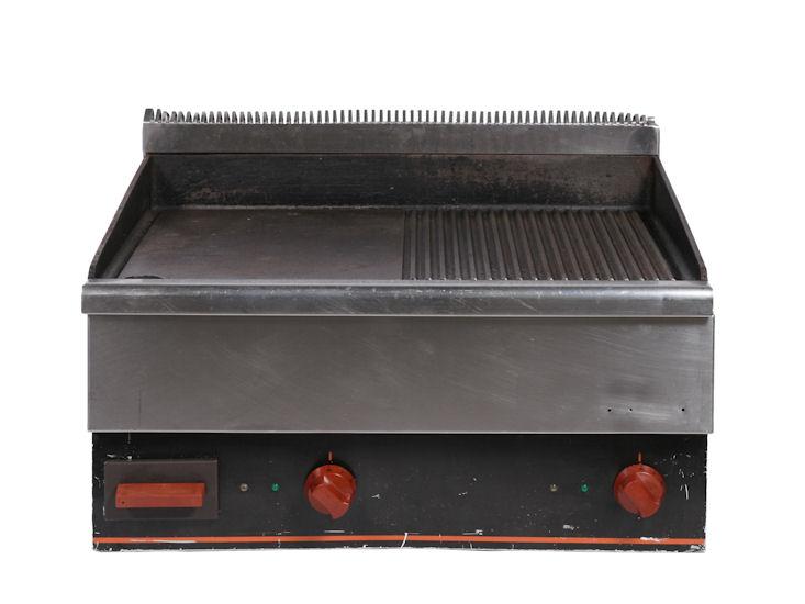 Płyta grillowa, elektryczna, gładka/żeberkowa