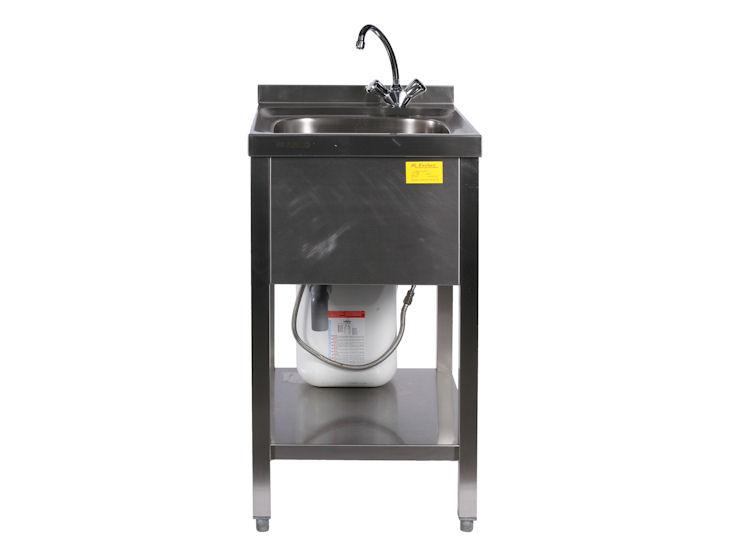 Zlew jednokomorowy zkanistrem naciepłą wodę (5 l)