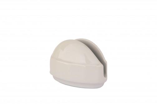 Serwetnik porcelanowy, biały