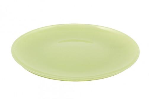 Talerz szklany, śr.27 cm, zielony