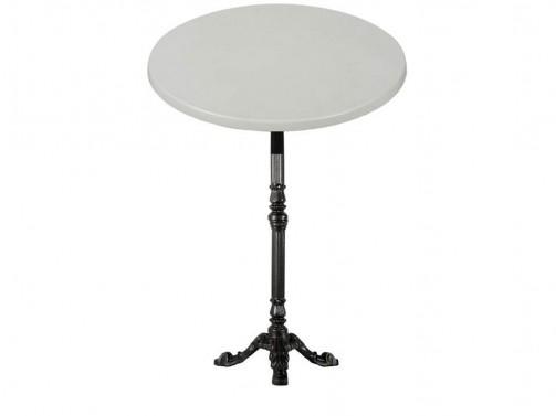 Stół koktajlowy, biały, śr. 80 cm