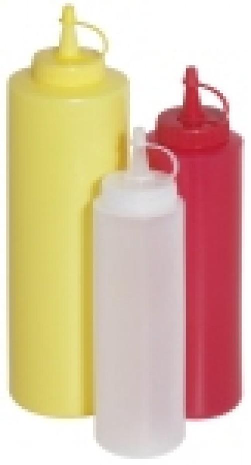 Plastikowa butelka dodekoracji, poj. 35 l, czerwona