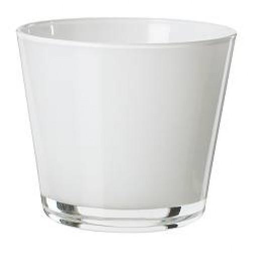 Szklanka , wys.7,5 cm biała DIOD