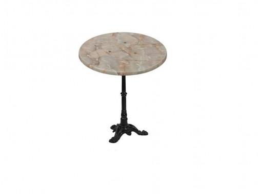 Stolik, marmurkowy, śr. 60cm
