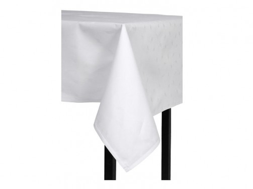 Obrus bawełniany, biały, 1,30 x 1,30 m