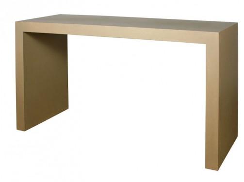 Stół barowy, 2,00 x 0,75 x 1 m, złoty-beż,