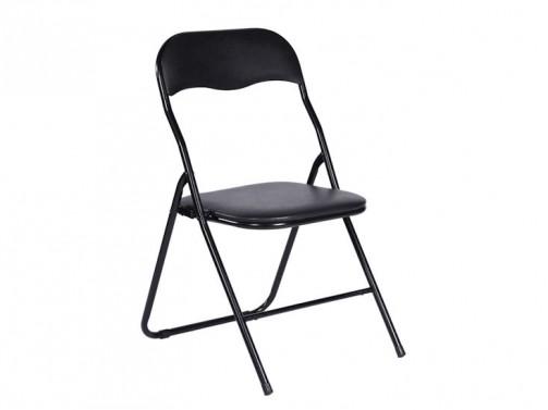 Krzesło składane, czarne