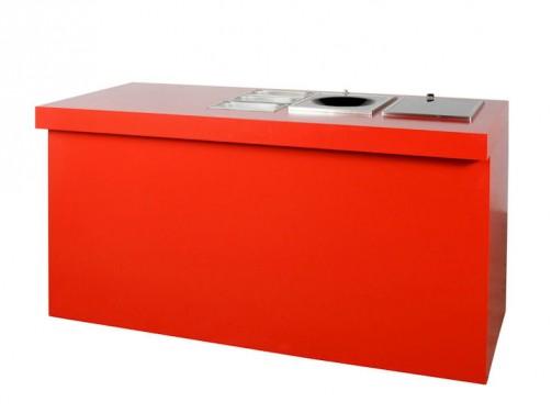 Element bufetu, czerwony lub szary, dourządzeń pod zabudowę